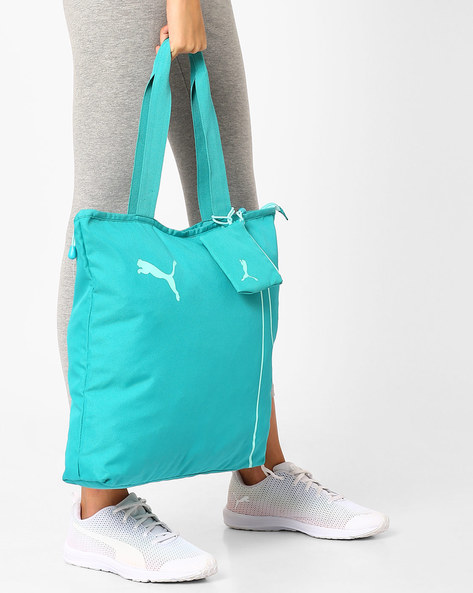 Fundamentals Shopper Tote Bag By Puma ( Turquoise )