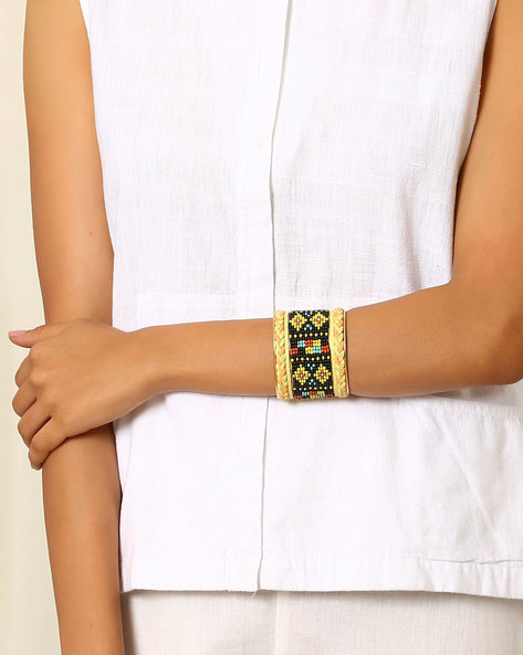 Adjustable Beaded Bangle By Indie Picks ( Multi )
