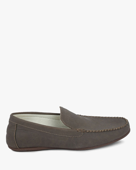 Panelled Slip-On Moccasins By DEXTER ( Brown )