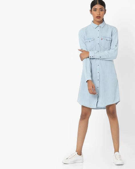Denim Shirt Dress By LEVIS ( Blue )