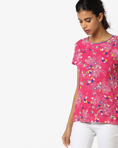 Round-Neck Top With Short Sleeves By UNITED COLORS OF BENETTON ( Assorted )