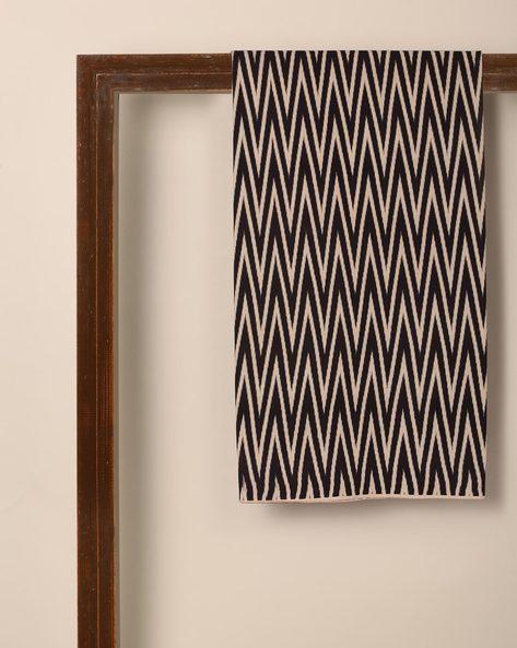 Kalamkari Chevron Print Cotton Kurta Fabric By Indie Picks ( Black )