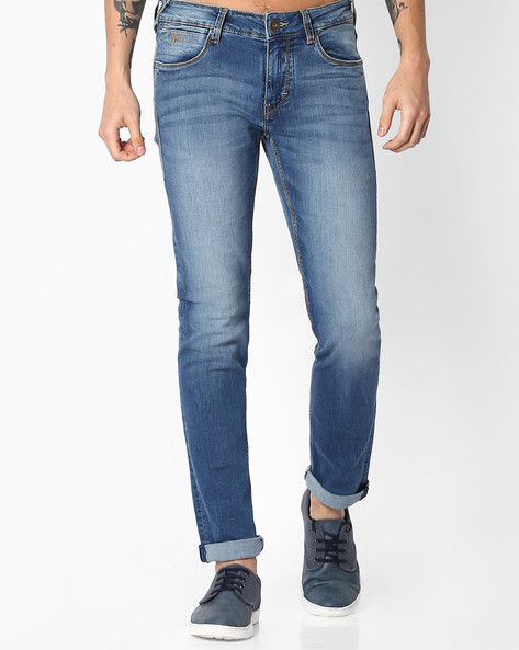 Michael Mid-Rise Slim Fit Jeans By FLYING MACHINE ( Blue )