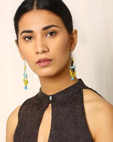 Beaded Dangler Earrings By Indie Picks ( Lightblue ) - 460017792001