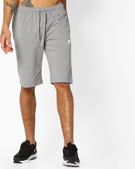 Mid-Rise Shorts With Drawstring Fastening By NIKE ( Grey )