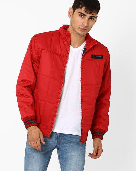 Regular Fit Reversible Quilted Jacket By Fort Collins ( Maroon )