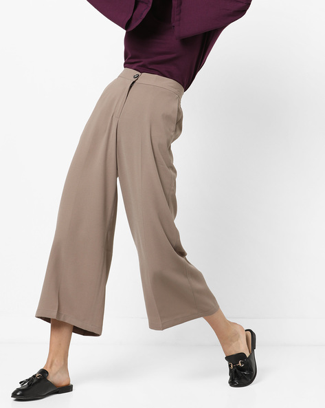 High-Rise Culottes With Slant Pockets By CODE By Lifestyle ( Tan )