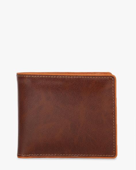Bi-Fold Leather Wallet By TEAKWOOD LEATHERS ( Wine )