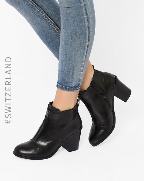 Heeled Ankle Boots By TALLY WEiJL ( Black ) - 460014503004