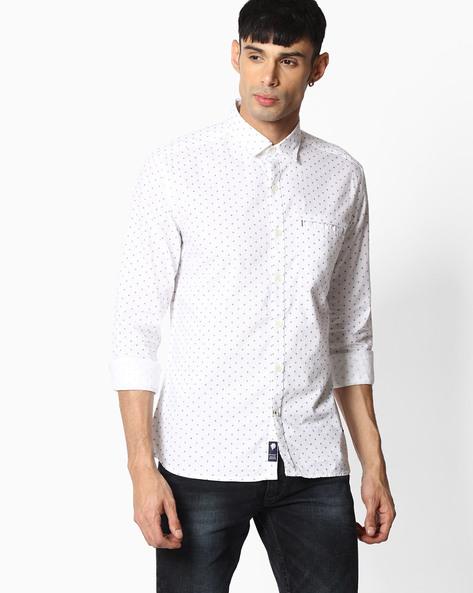 Slim Fit Cotton Shirt By NETPLAY ( White )