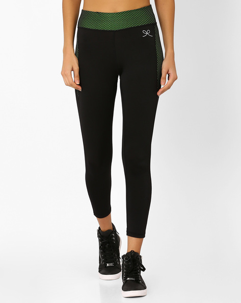 Panelled Ankle-Length Leggings By PrettySecrets ( Black )