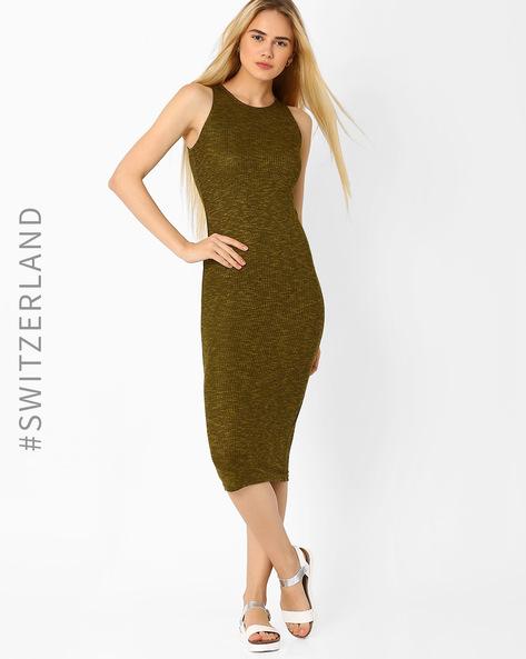 Bodycon Jersey Dress By TALLY WEiJL ( Olive )