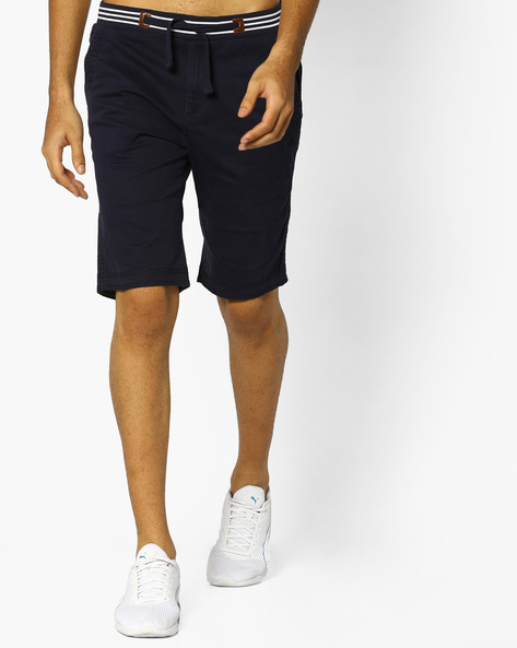 Shorts With Elasticated Waist By FLYING MACHINE ( Navy )