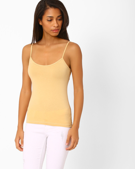 Cotton Camisole With Adjustable Straps By Floret ( Skin )