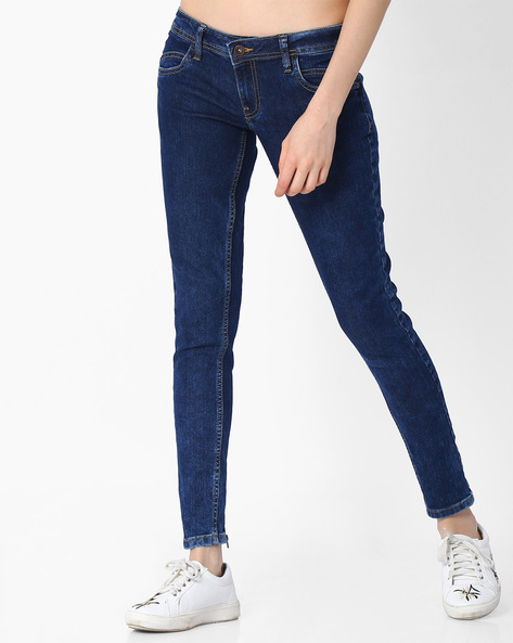 Low-Rise Super Skinny Jeans By DNM X ( Mediumblue )