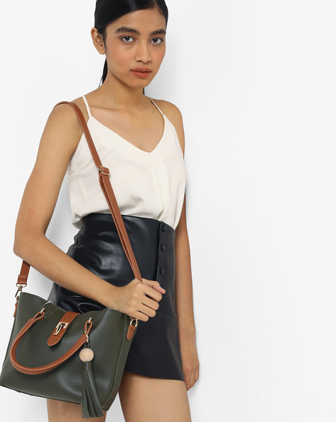 Shoulder Bag With Pouch By Lino Perros ( Green )