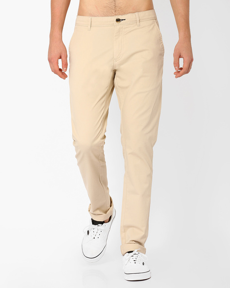 Corded Dobby Chinos By NETPLAY ( Stone )