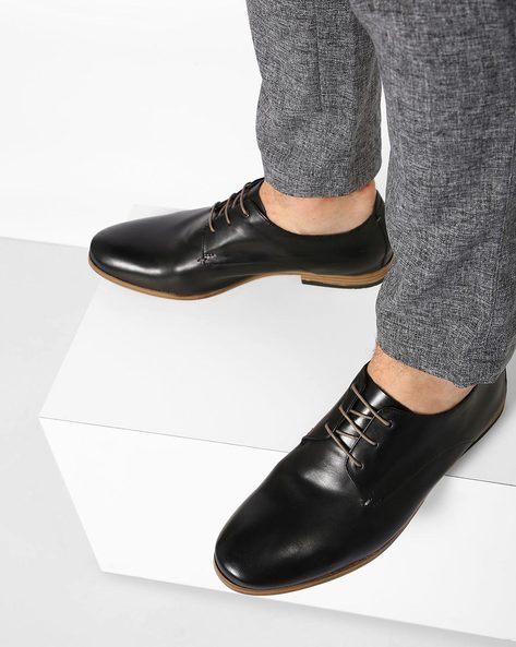 Leather Lace-Up Formal Shoes By CLARKS ( Black )
