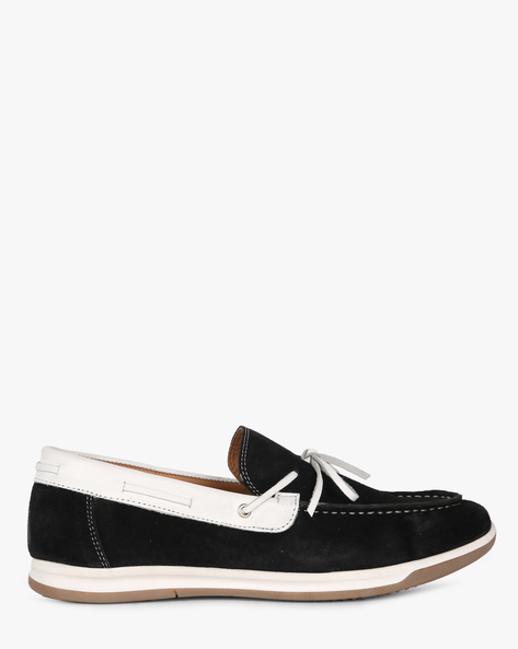 Slip-On Shoes With Tie-Up By Acuto ( Black )