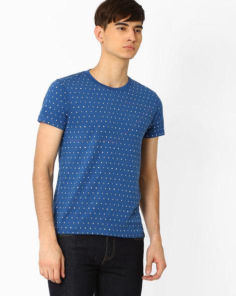 Printed Slim T-shirt By Lee ( Blue )