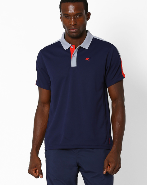 Quick Dry Polo T-shirt By PERFORMAX ( Navy )