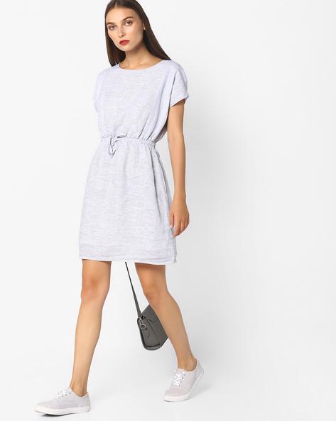 Striped Mini Dress By Vero Moda ( Grey )