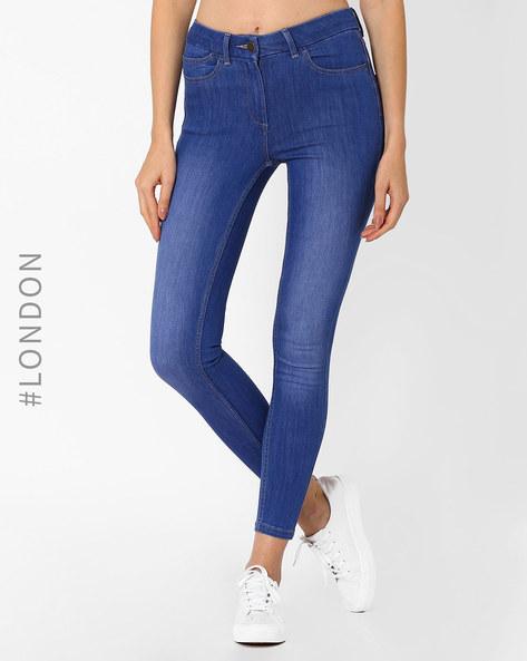 Skinny Fit Jeggings By Marks & Spencer ( Blue )