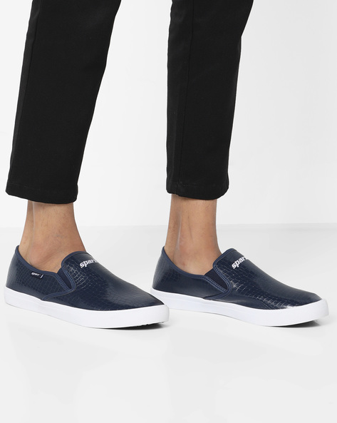 Textured Slip-On Casual Shoes By SPARX ( Navyblue )