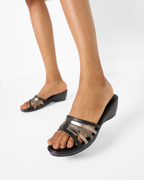 Strappy Wedge-Heeled Sandals By Lavie ( Multi )