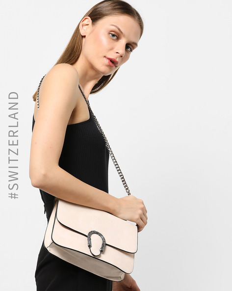 Sling Bag With Magentic Snap Closure By TALLY WEiJL ( Pink )