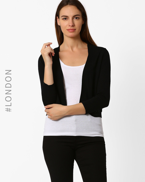 Open Front Point Shrug By Marks & Spencer ( Black )