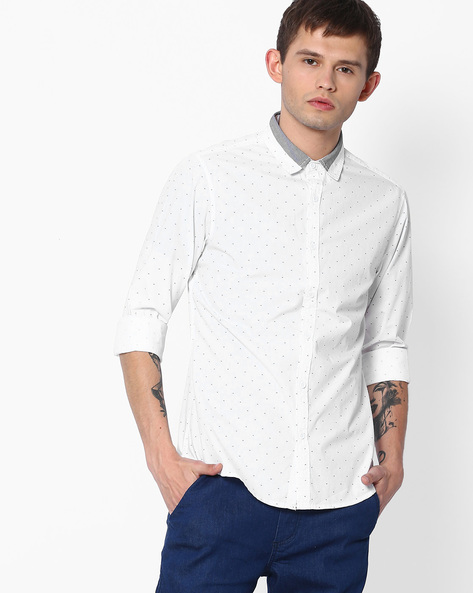 AJIO SHIRTS, WHITE, S By AJIO ( White )