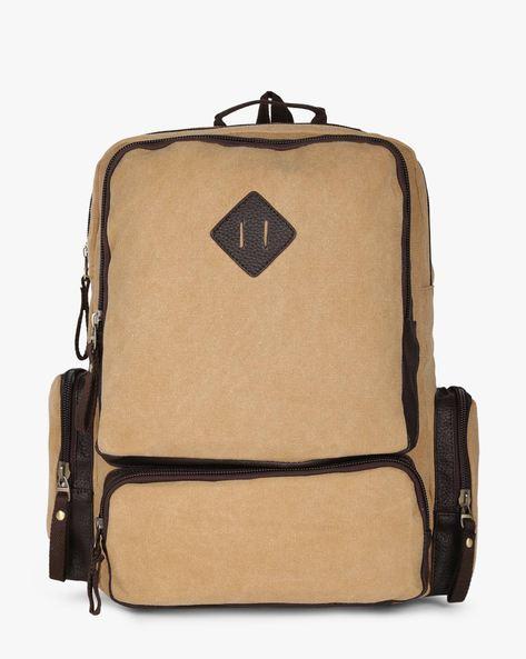 Travel Laptop Backpack By AJIO ( Beige )
