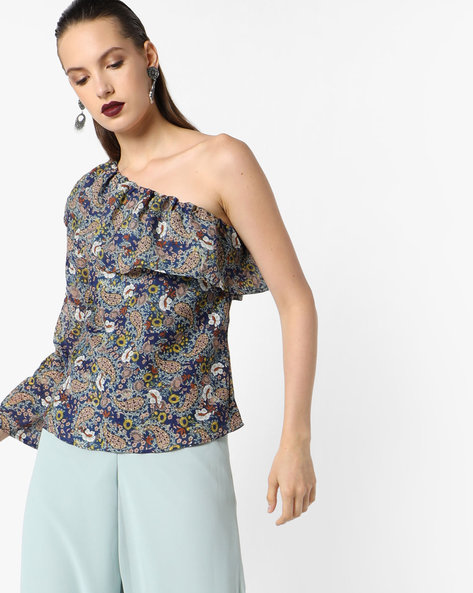 Floral Print Top By Oxolloxo ( Multicolor )