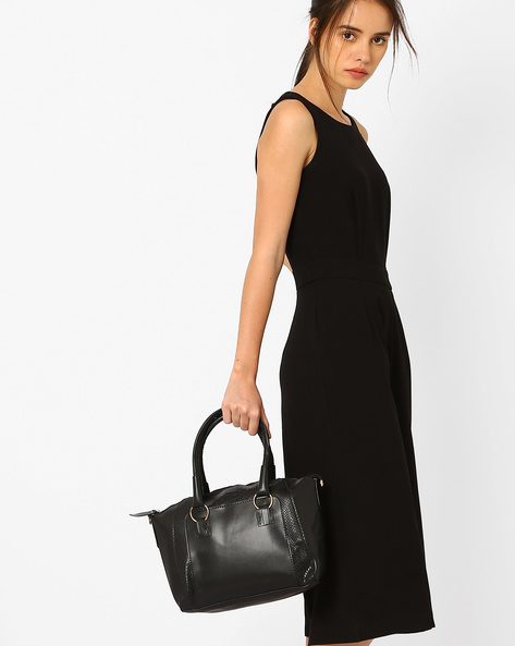 Structured Tote Bag By Joker & Witch ( Black )
