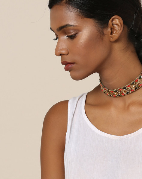 Beaded Choker Necklace By Indie Picks ( Multi )