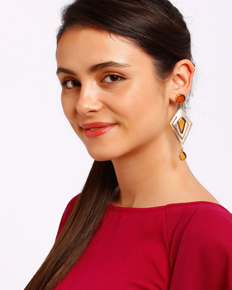 Gold-Plated Drop-Earrings By Ssoul ( Yellow )