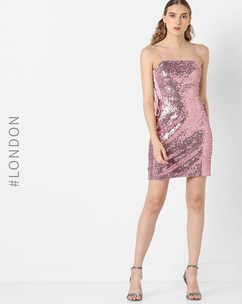 Sequined Mini Sheath Dress By Glamorous ( Pink )