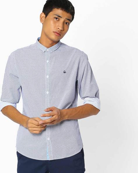 Printed Slim Fit Shirt By UNITED COLORS OF BENETTON ( Assorted )