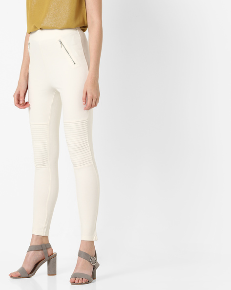 Skinny Fit Leggings By CODE By Lifestyle ( White )