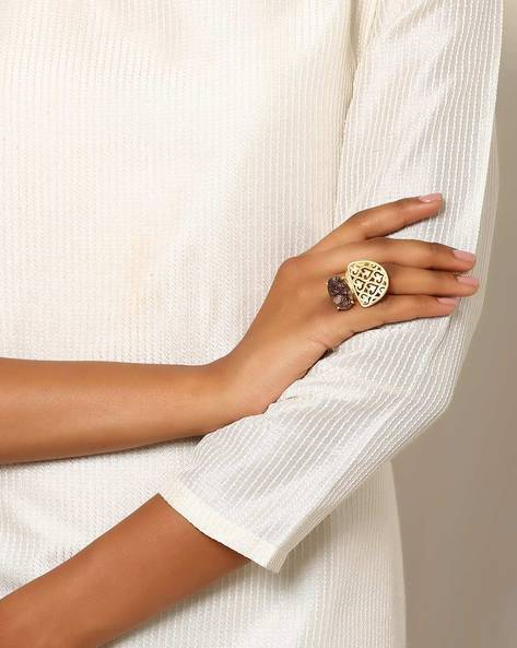Gold-Plated Cocktail Ring By Indie Picks ( Gold )