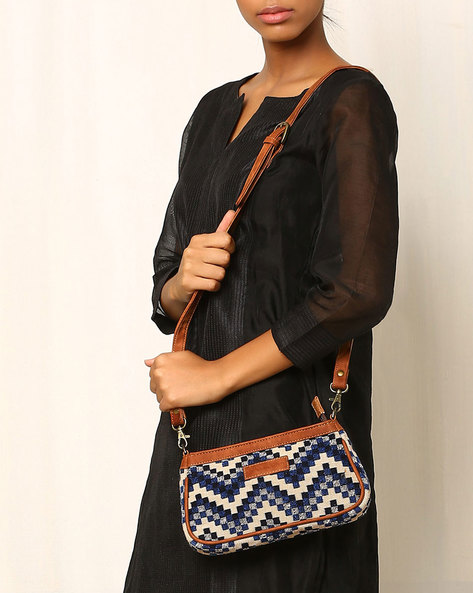 Cotton Jacquard Kilim Sling Bag By Twinology ( Multi ) - 460032766001