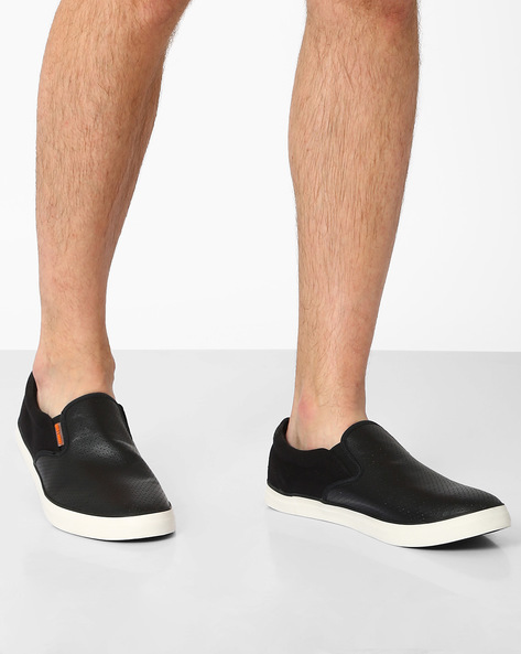 Slip-On Casual Shoes With Perforation By Jack & Jones ( Black )