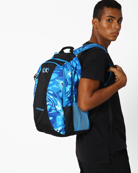 Wiki Loco Printed Travel Backpack By Wildcraft ( Blue )