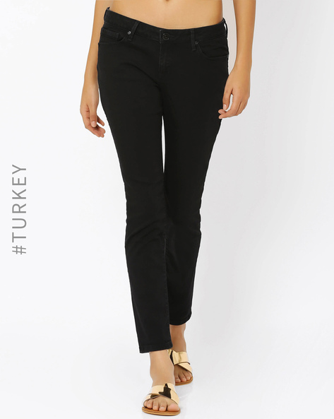 Tapered Fit Jeans By Cross Jeans ( Black )