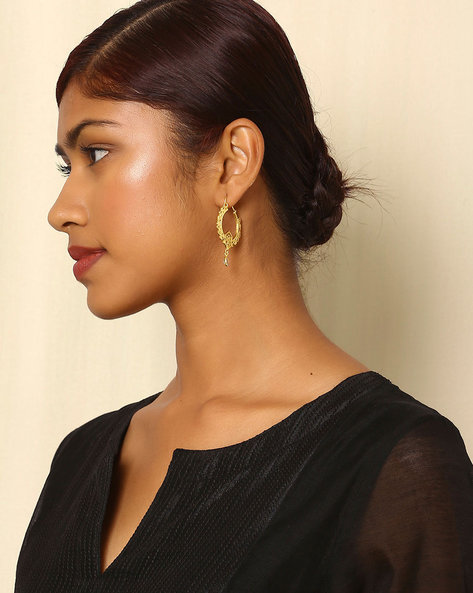 Gold-Plated Brass Hoop Earrings By Indie Picks ( Multi )