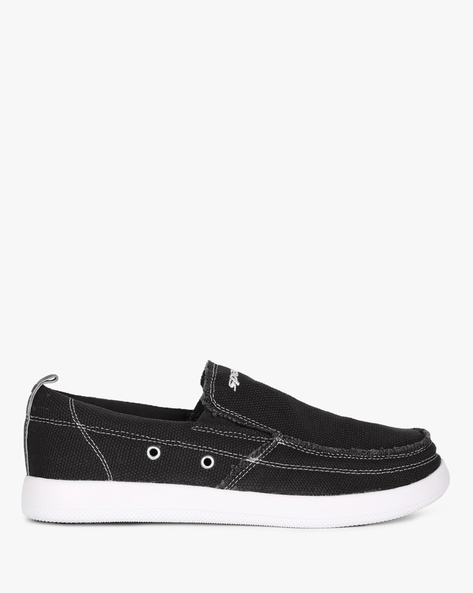 Canvas Slip-Ons Shoes By SPARX ( Black )