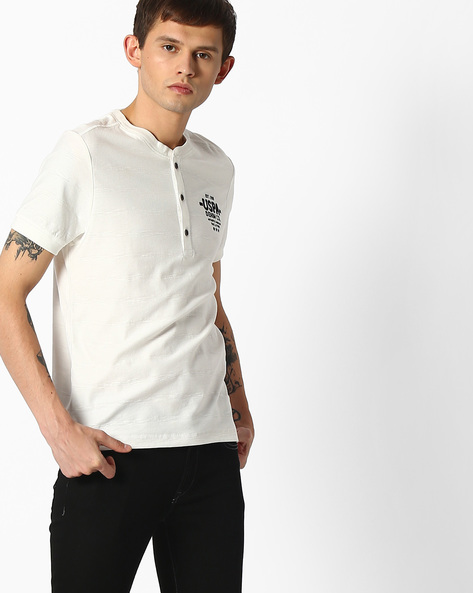 Henley T-shirt With Back Print By US POLO ( Assorted )