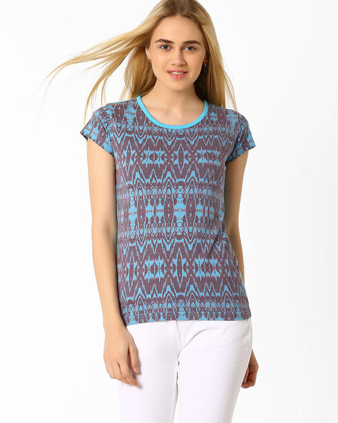 Printed T-shirt By TAANZ WOMENS ( Assorted )