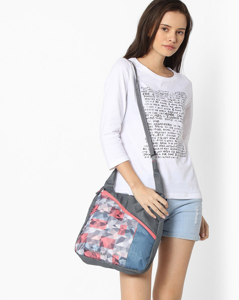 Printed Sling Bag With Adjustable Strap By Wildcraft ( Pink )